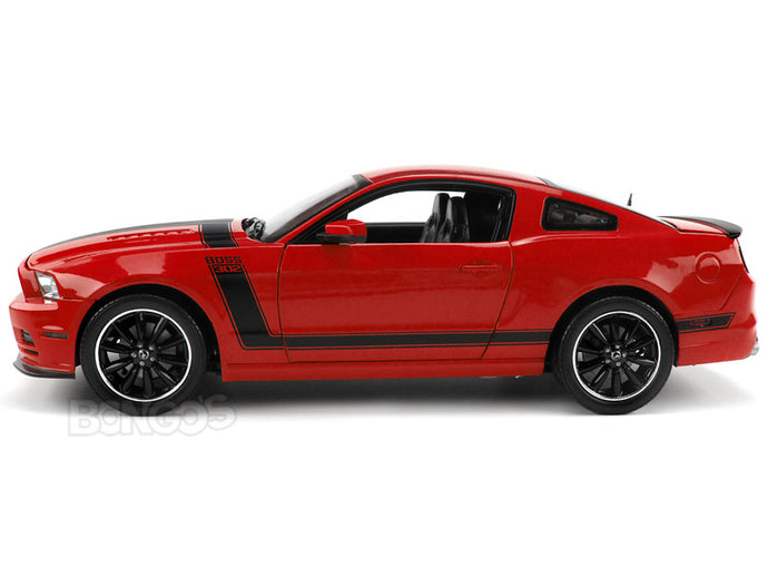 2013 Ford Mustang Boss 302 1:18 Scale - Shelby Collectables Diecast Model Car (Red)