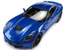 Load image into Gallery viewer, 2014 Chevy Corvette (C7) Stingray Z51 1:18 Scale - Maisto Diecast Model Car (Blue)