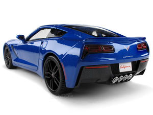 2014 Chevy Corvette (C7) Stingray Z51 1:18 Scale - Maisto Diecast Model Car (Blue)