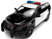Load image into Gallery viewer, 2015 Ford Police Interceptor Utility SUV (Blank) 1:18 Scale - MotorMax Diecast Model Car (B/W)