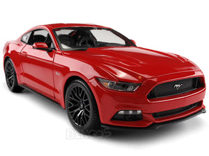 2015 Ford Mustang GT 1:18 Scale - Maisto Diecast Model Car (Red)