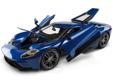 Load image into Gallery viewer, 2017 Ford GT 1:18 Scale - Maisto Diecast Model Car (Blue)