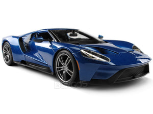 2017 Ford GT 1:18 Scale - Maisto Diecast Model Car (Blue)
