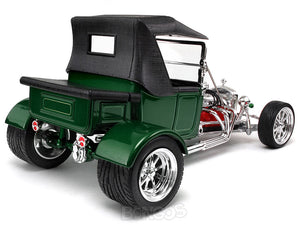 "1923 Ford Model T ""T-Bucket"" 1:18 Scale - Yatming Diecast Model Car (Green/Roof)"