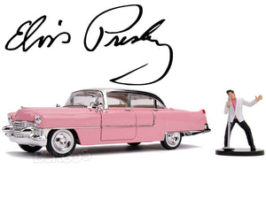 """ELVIS"" - 1955 Cadillac Fleetwood w/ Elvis Figure 1:24 Scale - Jada Diecast Model"