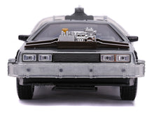"Load image into Gallery viewer, ""Back To The Future III"" DMC Delorean Time Machine 1:24 Scale - Jada Diecast Model Car"