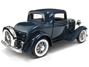 1932 Ford Coupe (3 Window) 1:18 Scale - Yatming Diecast Model Car (Blue)