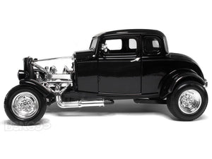 "1932 Ford Coupe ""3 Window - Hot Rod"" 1:18 Scale - MotorMax Diecast Model (Black)"
