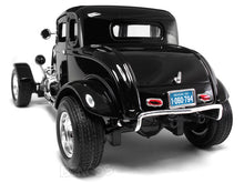 "Load image into Gallery viewer, 1932 Ford Coupe ""3 Window - Hot Rod"" 1:18 Scale - MotorMax Diecast Model (Black)"