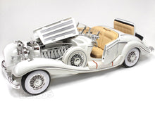 Load image into Gallery viewer, 1936 Mercedes-Benz 500K Super-Roadster 1:18 Scale - Maisto Diecast Model Car (White)