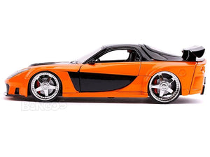 """Fast & Furious"" Han's Mazda RX-7 1:24 Scale - Jada Diecast Model Car (Orange)"