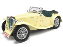 Load image into Gallery viewer, 1947 MG TC Midget 1:18 Scale - Yatming Diecast Model Car (Cream)