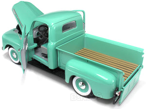 1948 Ford F-1 Pickup 1:18 Scale - Yatming Diecast Model Car (Green)