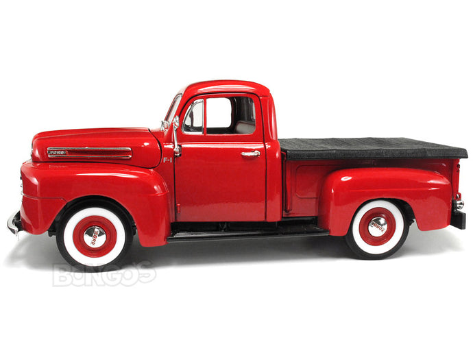1948 Ford F-1 Pickup 1:18 Scale - Yatming Diecast Model Car (Red)