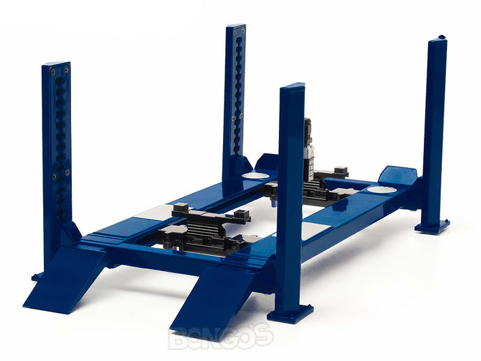 4-Post Lift (Hoist) 1:18 Scale - Greenlight Diecast Model (Blue)