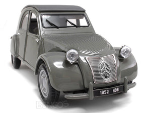 1952 Citroen 2CV 1:18 Scale - Maisto Diecast Model Car (Grey)