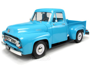 1953 Ford F-100 Pickup 1:18 Scale - Yatming Diecast Model Car (Light Blue)