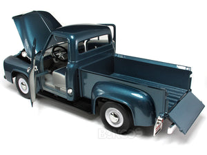 1953 Ford F-100 Pickup 1:18 Scale - Yatming Diecast Model Car (Blue)