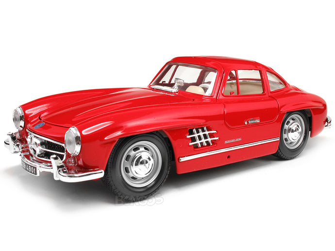 1954 Mercedes-Benz 300 SL 1:18 Scale - Bburago Diecast Model Car (Red)