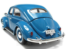 "Load image into Gallery viewer, 1955 VW ""Kafer"" Beetle 1:18 Scale - Bburago Diecast Model Car (Blue)"