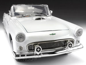 1956 Ford Thunderbird Roadster 1:18 Scale - MotorMax Diecast Model Car (White)