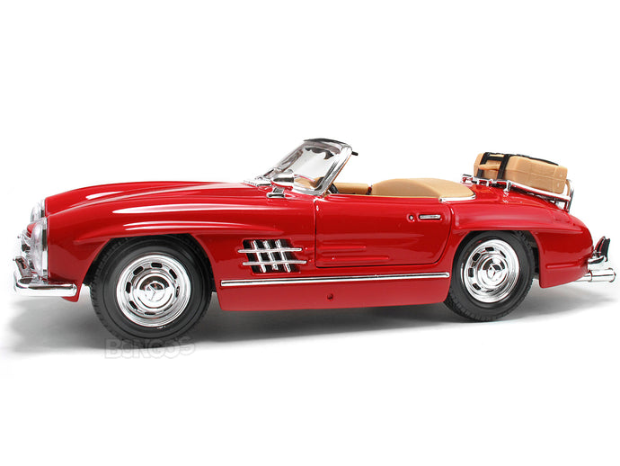 1957 Mercedes-Benz 300 SL Touring 1:18 Scale - Bburago Diecast Model Car (Red)