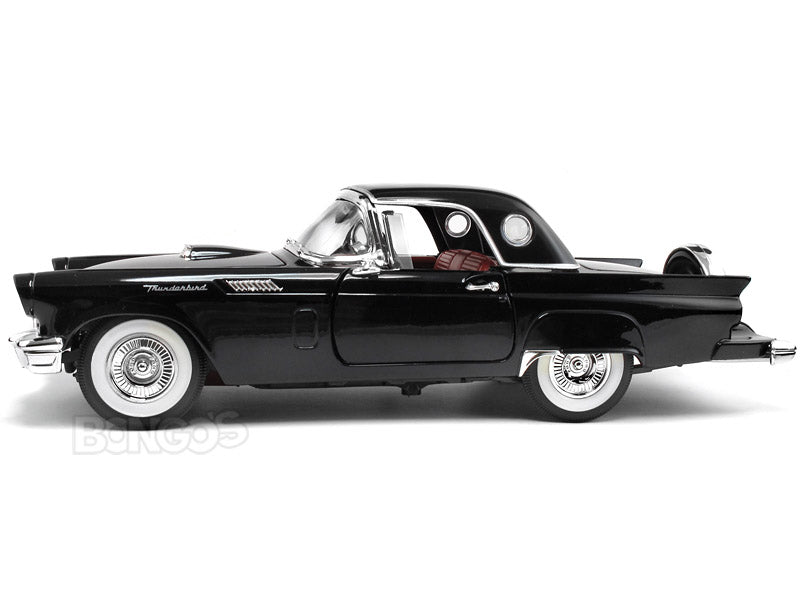 1957 Ford Thunderbird 1:18 Scale - Yatming Diecast Model Car (Black)