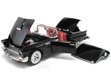 Load image into Gallery viewer, 1957 Ford Thunderbird 1:18 Scale - Yatming Diecast Model Car (Black)