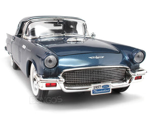 1957 Ford Thunderbird 1:18 Scale - Yatming Diecast Model Car (Blue)