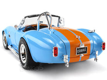 Load image into Gallery viewer, 1965 Shelby Cobra 427 S/C 1:18 Scale - Shelby Collectables Diecast Model Car (Blue/Org)