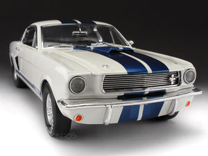 1966 Shelby GT350 (Mustang) 1:18 Scale - Shelby Collectables Diecast Model Car (White)