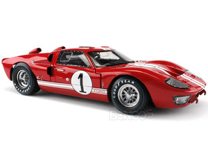 1966 Ford GT-40 (GT40) Mk II #1 1:18 Scale - Shelby Collectables Diecast Model Car (Red)
