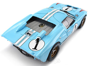 1966 Ford GT-40 (GT40) Mk II #1 Le Mans Miles/Hulme 1:18 Scale - Shelby Collectables Diecast Model Car (Gulf/Clean)