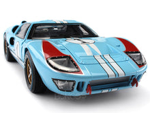 Load image into Gallery viewer, 1966 Ford GT-40 (GT40) Mk II #1 Le Mans Miles/Hulme 1:18 Scale - Shelby Collectables Diecast Model Car (Gulf/Clean)