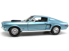 "Load image into Gallery viewer, 1968 Ford Mustang GT 428 ""Cobra Jet""1:18 Scale - Maisto Diecast Model Car (Blue)"