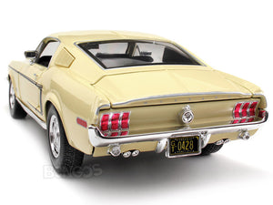 "1968 Ford Mustang GT 428 ""Cobra Jet"" 1:18 Scale - Maisto Diecast Model Car (Cream)"