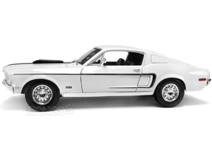 "1968 Ford Mustang GT 428 ""Cobra Jet"" 1:18 Scale - Maisto Diecast Model Car (White)"