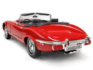 1971 Jaguar E-Type Roadster 1:18 Scale - Yatming Diecast Model Car (Red)