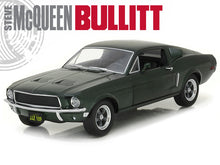 "Load image into Gallery viewer, ""BULLITT"" 1968 Ford Mustang Fastback 1:24 Scale - Greenlight Diecast Model Car (Green)"