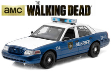 "Load image into Gallery viewer, ""The Walking Dead - Rick & Shane's"" 2001 Ford Crown Victoria Police Interceptor 1:18 Scale - Greenlight Diecast Model Car"