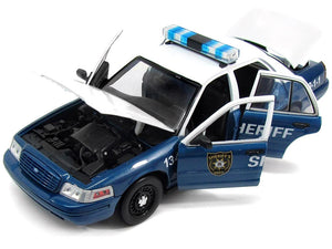 """The Walking Dead - Rick & Shane's"" 2001 Ford Crown Victoria Police Interceptor 1:18 Scale - Greenlight Diecast Model Car"
