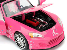 "Load image into Gallery viewer, ""Fast & Furious"" Suki's Honda S2000 1:24 Scale - Jada Diecast Model Car (Pink)"