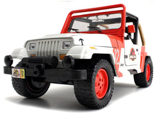 "Load image into Gallery viewer, ""Jurassic World"" Jeep Wrangler 1:24 Scale - Jada Diecast Model Car"
