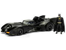 Load image into Gallery viewer, Batmobile - 1989 Movie Version w/ Batman Figure 1:24 Scale - Jada Diecast Model
