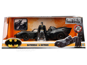 Batmobile - 1989 Movie Version w/ Batman Figure 1:24 Scale - Jada Diecast Model
