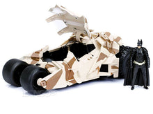 Load image into Gallery viewer, Batmobile - The Dark Knight Tumbler w/ Batman Figure 1:24 Scale - Jada Diecast Model (Camo Version)