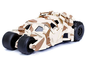 Batmobile - The Dark Knight Tumbler w/ Batman Figure 1:24 Scale - Jada Diecast Model (Camo Version)
