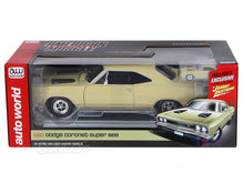 Load image into Gallery viewer, 1969 Dodge Coronet Super Bee 383 1:18 Scale - Autoworld Diecast Model Car (Beige)