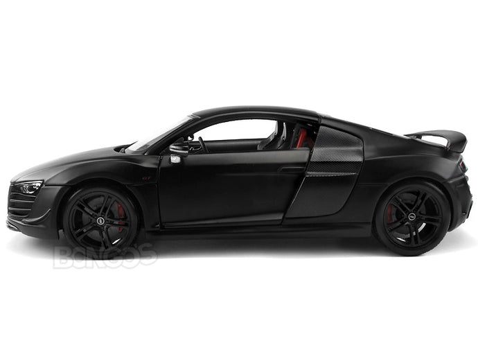 Audi R8 GT 1:18 Scale - Maisto Diecast Model Car (Matt Black)