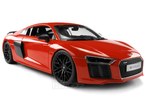 Audi R8 V10 Plus 1:18 Scale - Maisto Diecast Model Car (Orange)